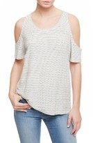 Sanctuary Women's Lou Stripe Cold Shoulder Tee