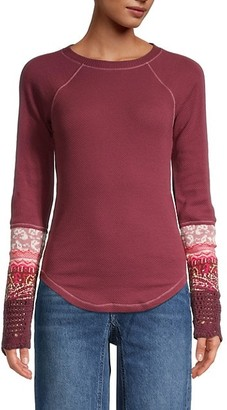 Free People Knit Cotton-Blend Sweater