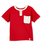 Lucky Brand Red Pocket Henley Raglan Tee - Boys