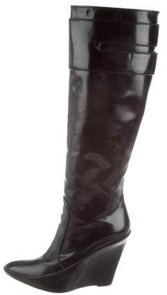Givenchy Knee-High Wedge Boots
