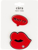 Cara Accessories Why & Big Lips Pin - Set of 2