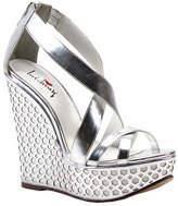 Luichiny Women's Cor Eena Sandal - Silver Imi Leather Sandals