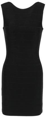 Herve Leger Open-back Bandage Mini Dress