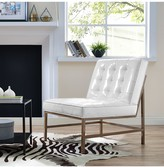 TOV Furniture Jed White Patent Leather Chair