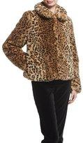 Alice + Olivia Jerrie Leopard-Print Faux-Fur Coat