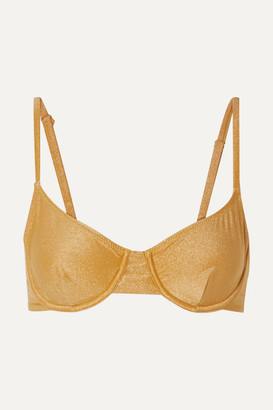 Solid & Striped The Eva Metallic Underwired Bikini Top - Gold