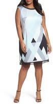 Tahari Plus Size Women's Print Scuba Sheath Dress