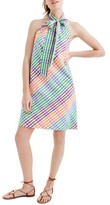 J.Crew Women's Tie Neck Rainbow Gingham Dress
