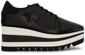 Stella McCartney Elyse sequinned platform sneakers