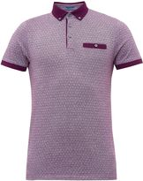 Ted Baker Collin Geo Print Cotton Polo Shirt
