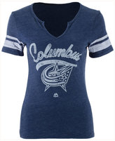 Majestic Women's Columbus Blue Jackets Tag Up T-Shirt
