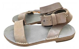 Maison Margiela Beige Suede Sandals