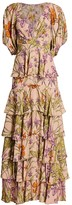 Johanna Ortiz Despise Your Thought Floral Tiered Maxi Dress