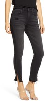 Blank NYC Blanknyc The Bond Side Zip Raw Hem Nonstretch Skinny Jeans