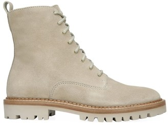 Vince Cabria Lug-Sole Suede Combat Boots