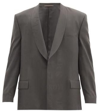 Martine Rose Shawl-lapel Jacquard-woven Wool Jacket - Grey