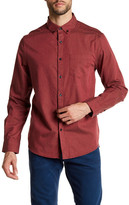 Kenneth Cole New York Long Sleeve Solid Woven Modern Fit Shirt