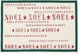 BARDWIL Holiday Noel Set of 4 Canvas Placemats