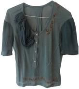 John Galliano Blue Cotton Top for Women Vintage