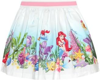 MonnaLisa Printed cotton skirt