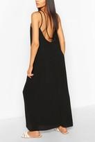 boohoo Strappy Back Woven Maxi Dress