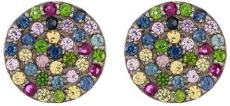 Adornia Fine 10mm Mixed Sapphire Disc Stud Earrings
