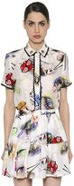 Kenzo Printed Linen & Silk Shirt