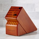 Crate & Barrel Wüsthof ® 17-Slot Cherry Knife Block