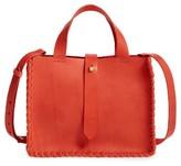 Madewell Whipstitch Mini Leather Tote Bag - Beige