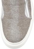 Giuseppe Zanotti Laceless Stingray-Embossed Sneaker, Silver