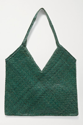 DRAGON DIFFUSION V Woven Leather Tote - Dark green