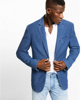Express slim photographer denim blazer