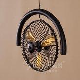 Injuicy Lighting Vintage Industrial Edison Fan Iron Loft Ceiling Chandelier Lamp Droplight Cafe