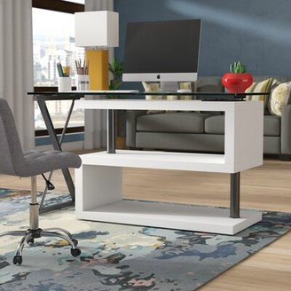 Brayden Studio Folden Reversible L-Shape Standing Desk Color: Black