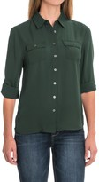 Workshop Republic Clothing Chiffon Button-Down Shirt - Long Sleeve (For Women)