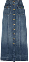 Current/Elliott The Sally Denim Midi Skirt - Mid denim