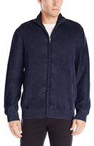 Calvin Klein Jeans Men's Full-Zip Garment-Dye Sweater