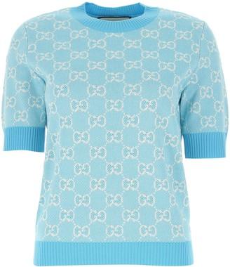 Gucci GG Jacquard Motif Knitted Top
