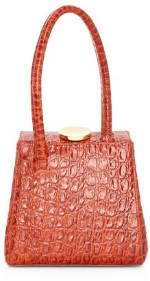 Little Liffner Mademoiselle Croc-Embossed Leather Top Handle Bag