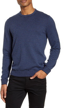 Vince Stripe Crewneck Wool Blend Sweater