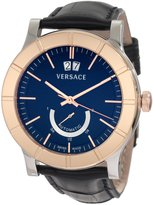 Versace Men's 18A99OD009 S009 Acron Big Date Automatic Power Reserve 18K Gold Bezel Watch