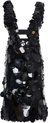 Prada Cutout Sequined Silk Dress