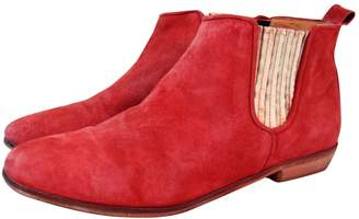 N. Sézane Sezane \N Red Suede Ankle boots