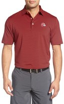 Peter Millar Men's 'Competition - University Of Georgia' Stripe Stretch Microfiber Golf Polo