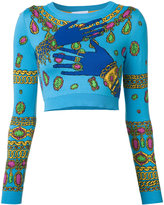 Moschino hands and jewels cropped jumper - women - Cotton - 40