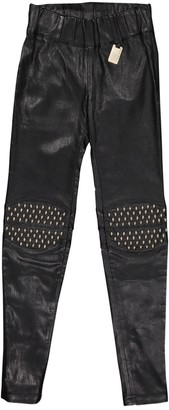 Thomas Wylde Black Leather Trousers