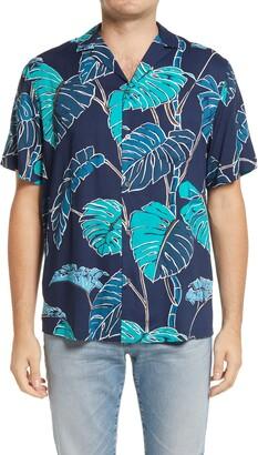 Reyn Spooner Kainapa Tropical Short Sleeve Button-Up Camp Shirt