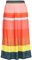 Paul Smith Pleated Striped Midi Skirt