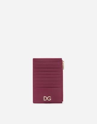 Dolce & Gabbana Large Vertical Dauphine Calfskin Credit Card Holder
