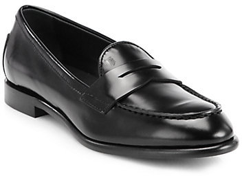 Tod's Signature Calfskin Penny Loafers
